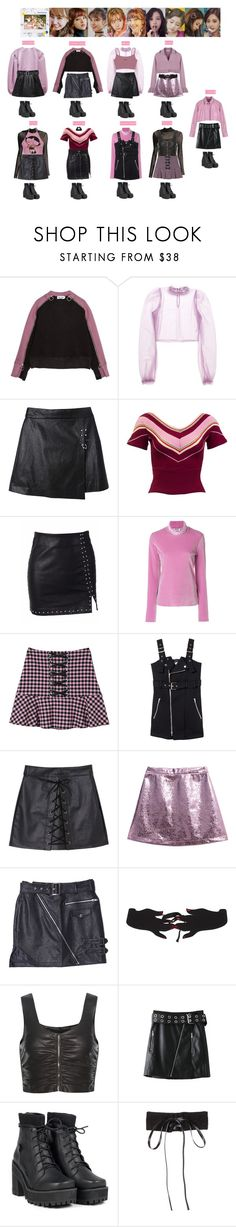 """""""TWICE - LIKEY💛💚❤️💙💜💖"""" by vvvan99 ❤ liked on Polyvore featuring Daizy Shely, MSGM, VIVETTA, Alexander Wang, WithChic and UNIF"""