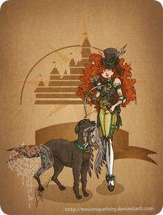 Disney steampunk: Merida by MecaniqueFairy cosplay inspiration