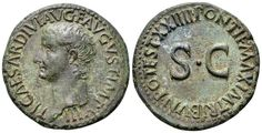 AE As. Roman Imperial, Tiberius, Rome. 22-23 AD. 28mm, 11,29g, 2h. RIC 44. Near EF. Price realized (2.7.2016): 286 EUR.