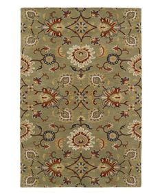 This Green Hand-Tufted Wool Rug is perfect! #zulilyfinds