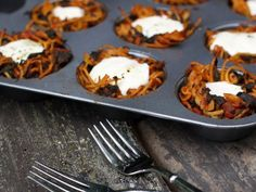 Make dinner a fun time for the whole family tonight with these Spaghetti Nests with Bird Eggs from FN Dish.
