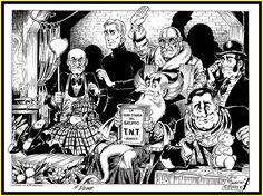 "Alan Ford - G. Romanini - illustrazione originale ""Il Gruppo TNT "" - W. Alan Ford, Belgrade Serbia, Vintage Comics, Bunker, Fictional Characters, Grande, Cartoons, Tattoo, Children"