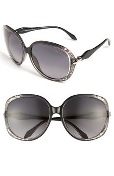 Roberto Cavalli 61mm Oversized Sunglasses available at #Nordstrom