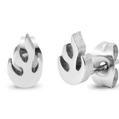 R&B Schmuck Unisex Ohrstecker Ohrringe - Dynamit Flammen (1 Paar, Silber): 10,90€