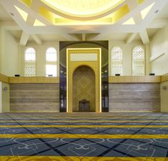 Al-Ansar Mosque / ONG&ONG Pte Ltd Mosque Architecture, Architecture Wallpaper, Interior Architecture, Exterior Design, Interior And Exterior, Wall Art Uk, Beautiful Mosques, Interior Lighting, House Design