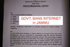 Information Blackout: Govt. orders ban on internet services in Jammu district; Situation tense after Sikh youth's killed in police firing - http://sikhsiyasat.net/2015/06/05/information-blackout-govt-orders-ban-on-internet-services-in-jammu-district-situation-tense-after-sikh-youths-killed-in-police-firing/
