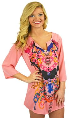 https://belleboutiquenwa.com/apparel/dresses/jewel-print-shift-dress.html #shiftdress #pink #fashion