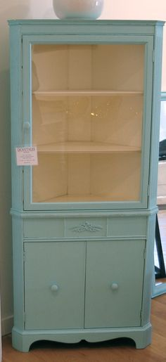 My DREAM!!!!!! for top of landing Cottage Sweet Vintage Corner Cabinet by dovetaleshome on Etsy, $695.00