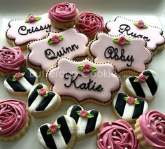 Gorgeous black white and pink!