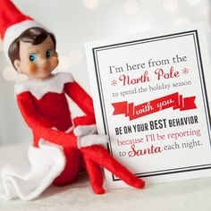 Notes from the Elf - DIY printable note cards. Your elf can leave notes apologizing for messes, organizing holiday activities, revealing clues for stuff she's hidden, monitoring children's behavior. Such a fun way to create lasting holiday memories. Christmas And New Year, Winter Christmas, All Things Christmas, Christmas Holidays, Christmas Ideas, Christmas Giveaways, Merry Christmas, Christmas Projects, Christmas Trimmings