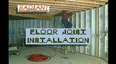 Radiant Heating - The Floor Joist Installation Video Radient Floor Heating, Hydronic Radiant Floor Heating, Custom Trailers, Flooring Companies, Building A House, Building Ideas, Radiant Heat, 2nd Floor, Home Improvement