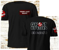 Personalize New GHOSTBUSTERS MOVIE 2016 Black T-Shirt CAMISETA S-3XL #Gildan #BasicTee