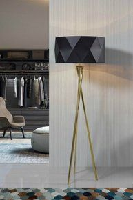 Irreverent floor lamp that stands out by its presence. The combination of the tripod shaped foot and black designed lampshade is what makes it modern and different. Great for bedroom, but also for living and dining rooms, it is easily adaptable. Tripod Lamp, Floor Lamps, Contemporary, Modern, Lighting, Bedroom, Stylish, Dining Rooms, Design