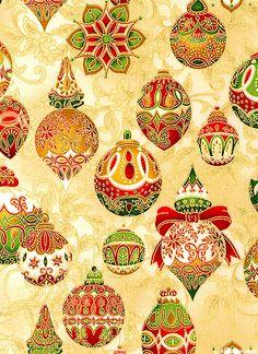 Holiday Flourish 5 - Ornamental Elegance - Almond/Gold