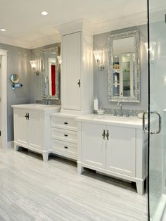 Style for the girls jack and jill.  Traditional Bathroom Design, Pictures, Remodel, Decor and Ideas - page 7