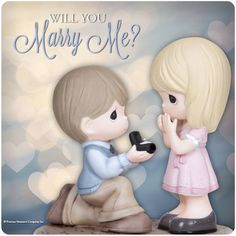Will you Marry Me? #preciousmoments #marryme #engagement #wedding
