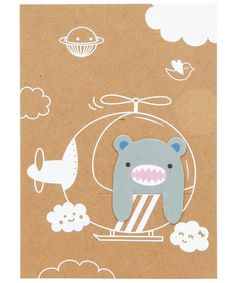 Riceroar Bookmark Greeting Card, Noodoll. Shop more from the Noodoll collection at Liberty.co.uk