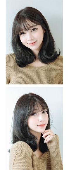 New Ideas For Haircut Medium Asian Bangs Short Brown Hair, Short Hair With Bangs, Short Hair Cuts, Korean Short Hair Bangs, Korean Hair Medium, Asian Haircut Short, Korean Bangs Hairstyle, Korean Haircut, Korean Hairstyles
