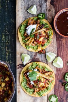 BBQ Margarita Chicken Tostadas with Sweet Jalapeño Margarita Salsa   halfbakedharvest.com