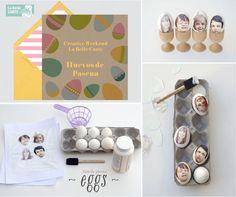 Tarjetas de pascua, Ideas para hacer huevos de pascua en familia, huevos de pascua originales