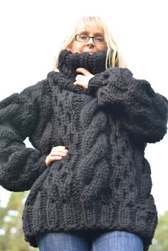chunky thick knit wool sweater | Dukyana | Pinterest | Wool ...
