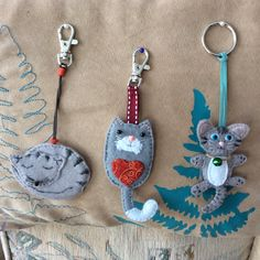 my recent key rings made for a friend