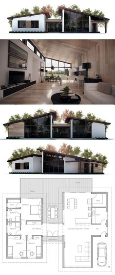 Modern house plans modern home plans architecture floor plans homeplans houseplans architecture interiordesign Building A Container Home, Container Homes, Container House Plans, Container House Design, Casas Containers, Architecture Plan, Container Architecture, Architecture Portfolio, Residential Architecture