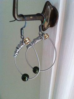 Recycled/Reused Teardrop Hoop Guitar String by JustAnotherEtsyShop