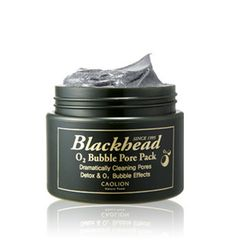A purifying oxygen and active charcoal mask that froths up to deep clean pores of trapped dirt, blackheads, and whiteheads.
