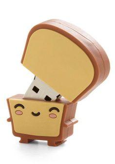 Toast Cute USB stick shaped like a kawaii slice of bread.Cute USB stick shaped like a kawaii slice of bread. Usb Drive, Usb Flash Drive, Accessoires Iphone, Usb Stick, Cute Stationary, Cute School Supplies, All Things Cute, Kawaii Cute, Kawaii Stuff