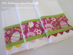 3 Happy Easter Kitchen Towels