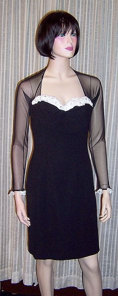 On Ruby Lane - 1980's Black Dress by YT Travilla for Saks Fifth Avenue, $235