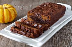 Paleo Marble Pumpkin Chocolate Bread (gluten, grain, dairy free) by LivingHealthyWithChocolate.com