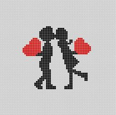 Wedding couple 💏 – Pixel Art P … Tiny Cross Stitch, Cross Stitch Quotes, Cross Stitch Designs, Cross Stitch Patterns, Graph Paper Drawings, Graph Paper Art, Pixel Art Kawaii, Grille Pixel Art, Pixel Art Minecraft