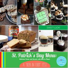 Delicious Desserts with Beer in Them for Some Sweet Luck! #stpatricksday #stpatricksdayfood