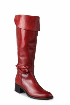 Wide calf tall boots - Perenna by Nic Dean in Rosso