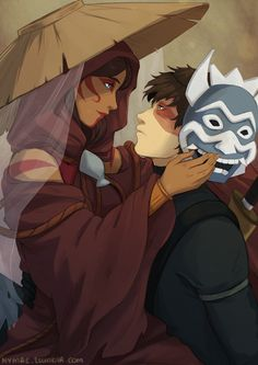 The Painted Lady and the Blue Spirit Zutara (Avatar the Last Airbender)