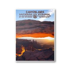 This Canyonlands National Park print is a unique tribute to the WPA posters that were created in the 1930's and 1940's. The WPA posters were originally constructed as a government initiative to generate interest in the national parks and improve park attendance. As we are approaching the centennial anniversary of the National Parks System, we have designed WPA travel posters and postcards featuring all 59 national parks to celebrate America's diverse homeland and to encourage you to reflect…