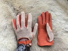 Crochet Leather Driving Gloves Fashion 2016 by leathergloves4u