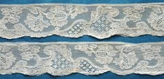My choice for best lace from the May 4, 2014 Ebay Alerts. Mid 18th c Mechlin border. Antique Lace, Vintage Lace, Lacemaking, Linens And Lace, Bobbin Lace, 18th Century, Lace Trim, Lace Shorts, Vintage Antiques