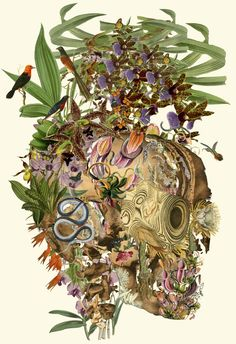"""inhale"" anatomical collage art by bedelgeuseCommission for the Wellcome Trusthttp://www.wellcome.ac.uk"
