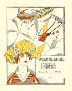 Fernand Simeon, Les Feuillets d'Art magazine, Verlaine Advertisement, 1919-20