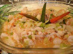 shrimp kelaguen - not as good as my Uncles but it will have to do