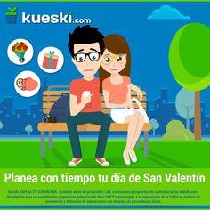 ¡Que San Valentín no te agarre desprevenido! Empieza a planear y a ahorrar con tiempo.  #KueskiTips