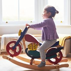 Mirage Wooden Rocking Bike by Hibba Toys of Leeds, the perfect gift for Explore more unique gifts in our curated marketplace. Rocking Horse Plans, Wooden Table And Chairs, Wood Toys Plans, Ride On Toys, Handmade Wooden, Wood Projects, Kids Toys, Wooden Children's Toys, True Beauty