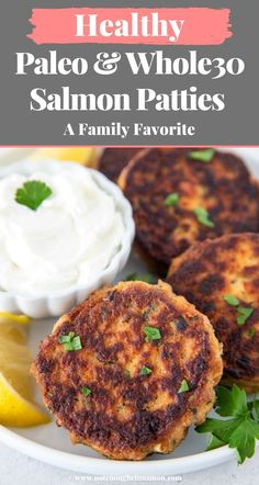 Learn how to make healthy Salmon Patties that are Paleo, Whole30, Low Carb and Gluten-free using no breadcrumbs. The perfect high protein Omega 3 rich quick and easy weeknight dinner or lunch meal prep recipe. Best Paleo Recipes, Paleo Meals, Whole30 Recipes, Healthy Dips, Healthy Appetizers, Salmon Patties Recipe, Carb Cycling, Lunch Meal Prep, How To Eat Paleo