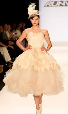 Kenley. Project Runway. Wedding dress