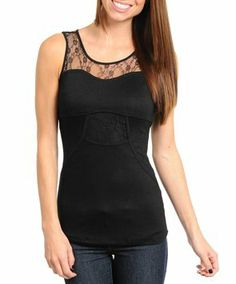 Black Womens Juniors Sz Small Lace New Aggie Brand Top $9