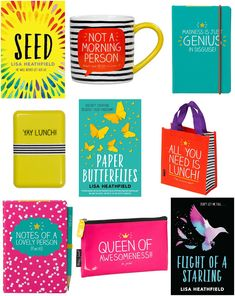 With Love for Books: Books by Lisa Heathfield & Happy Jackson Mug, Note...