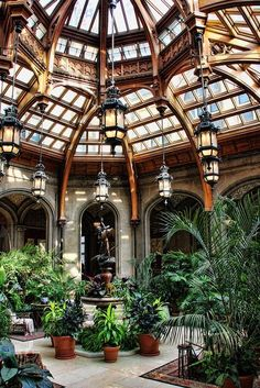 Not just any atrium.this is the Atrium in the Biltmore Estate. Future House, My House, Patio Interior, Interior And Exterior, Architecture Design, Garden Architecture, Beautiful Architecture, Beautiful Homes, Beautiful Places